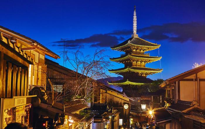 Vue sur la pagode depuis la chambre