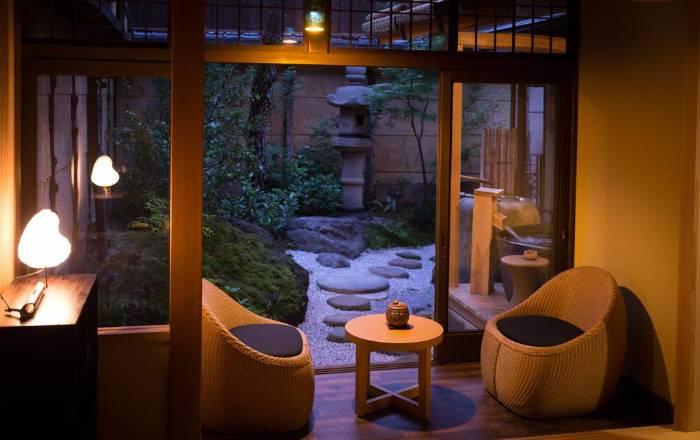 La chambre a un jardin privatif pour une ambiance zen