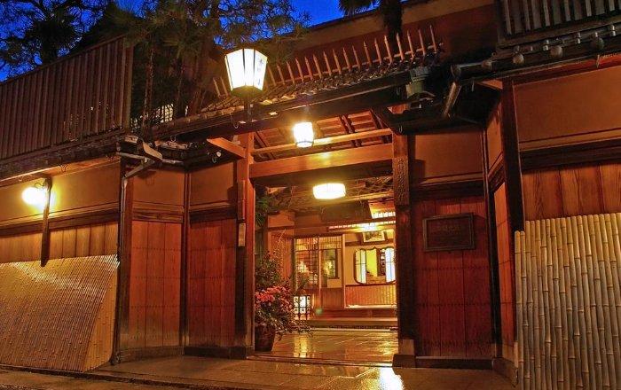 L'entrée du ryokan donne tout de suite une impression de luxe