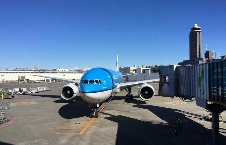 Fin de moin voyage au Japon, aéroport de Narita à Tokyo