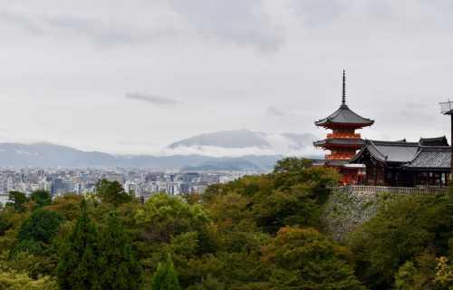 Kiyomizu-Dera, le grand temple de l'eau pur à Kyoto