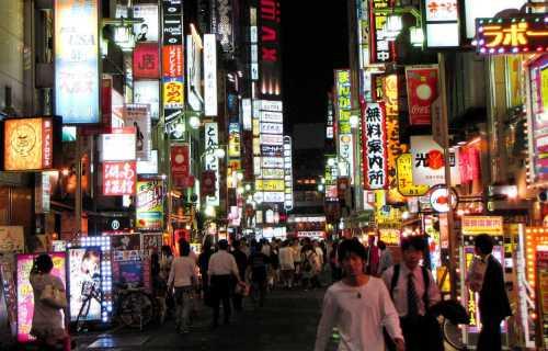 La vie nocturne au Japon
