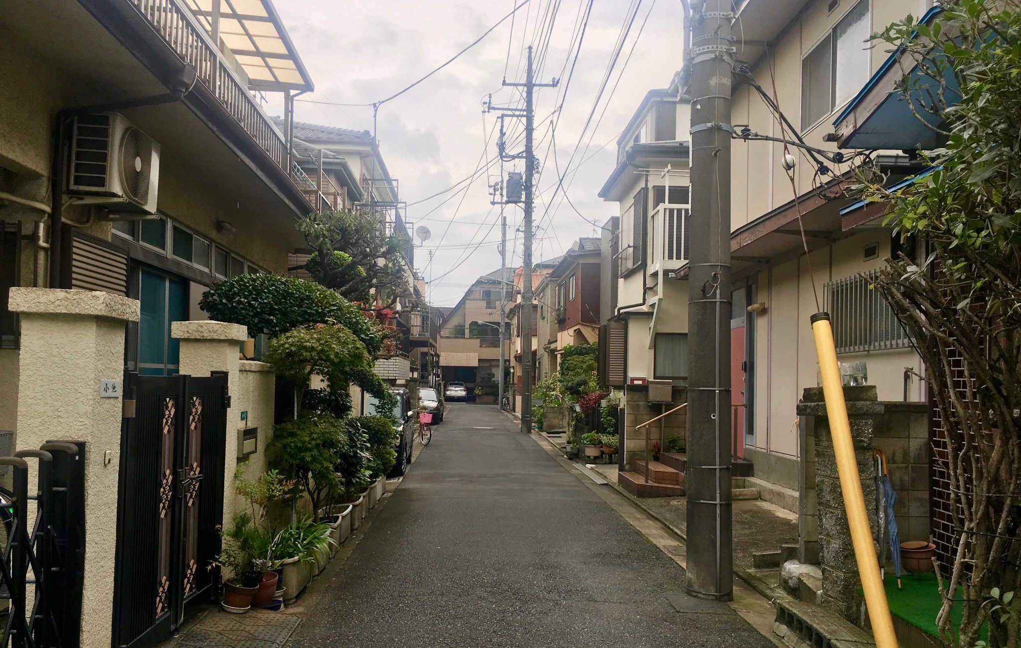 Quartier tranquille et résidentiel autour de Tokyo