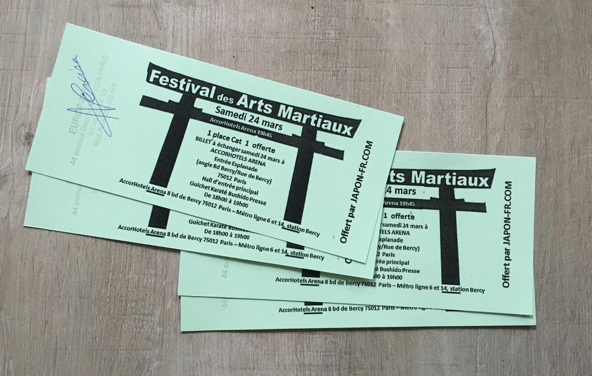 Gagnez vos places pour le festival des arts martiaux