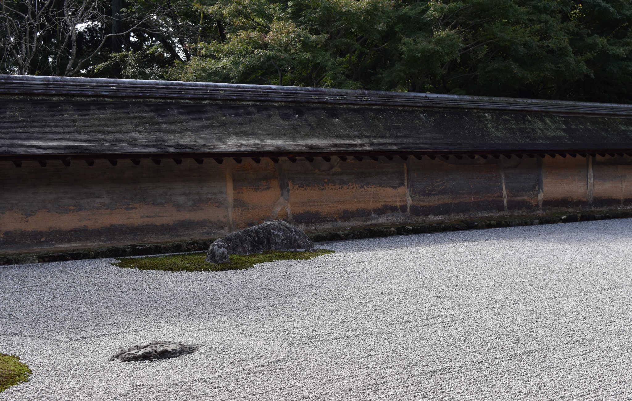 Le ryoan-ji à Kyoto est le symbole du jardin sec par excellence