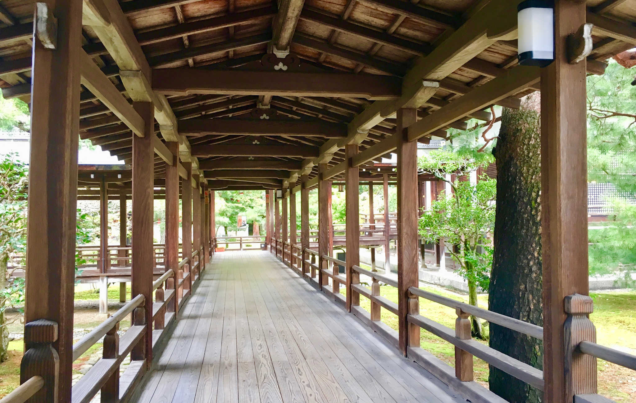 Les coursives en bois forment de véritables couloirs