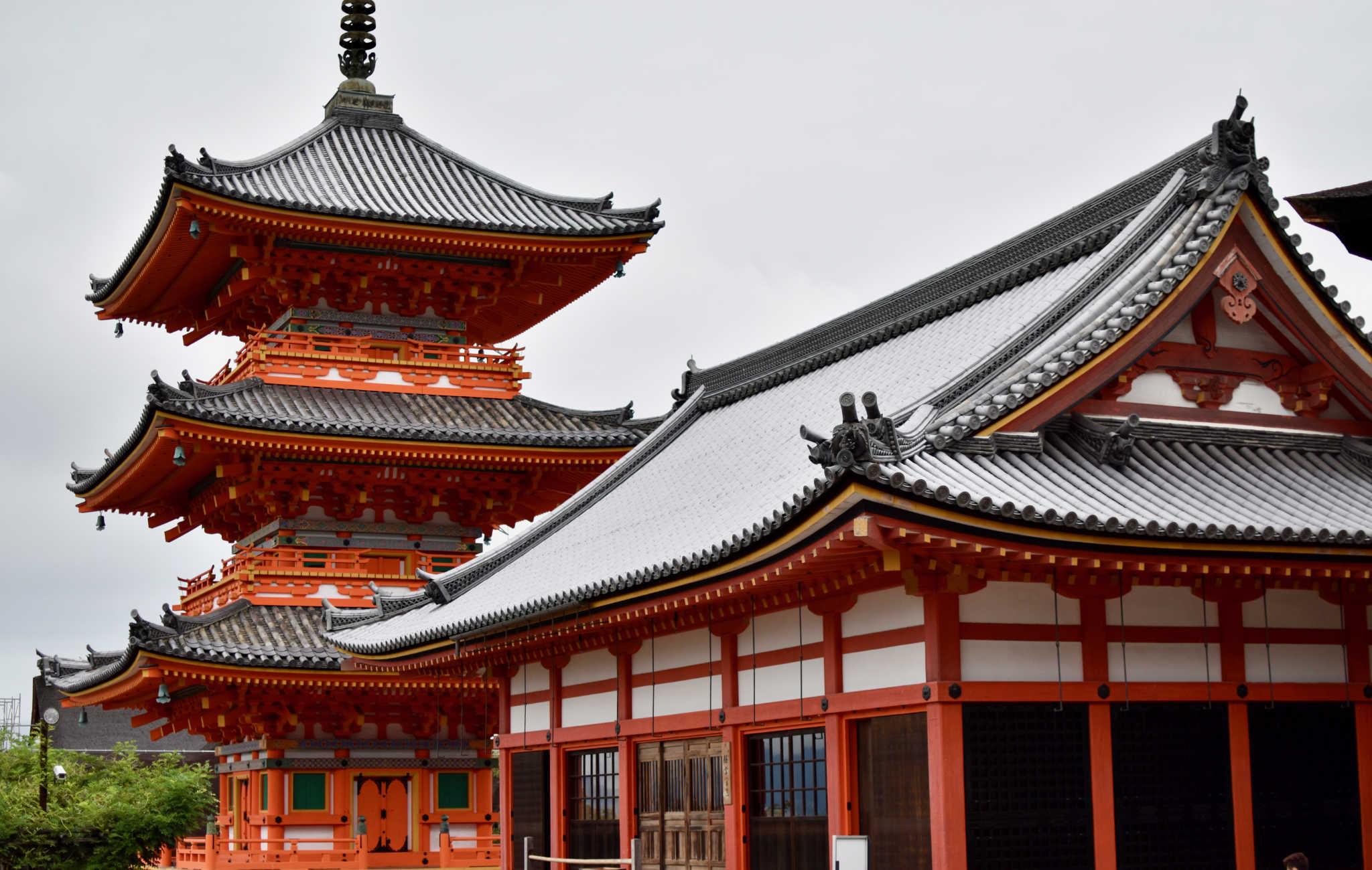 Le Koyomizu-dera et sa célère pagode est aussi un point d'observation remarquable de Hihashiyama