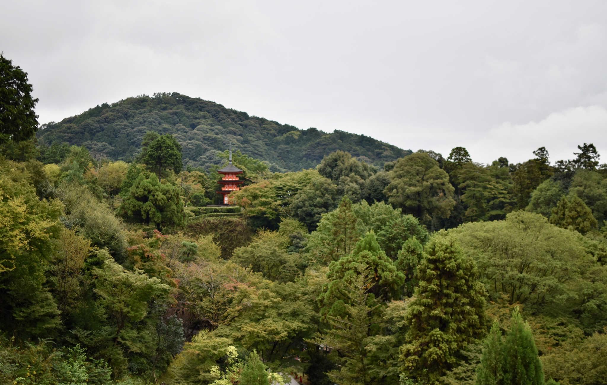 Au loin on observe une autre pagode