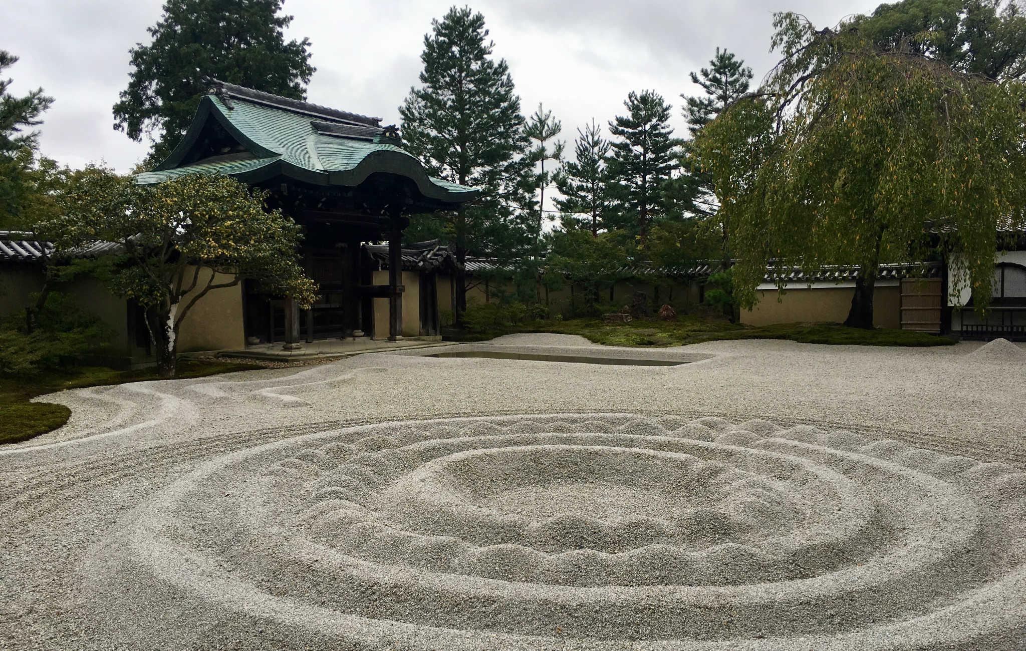A côté du temple, un jardin zen