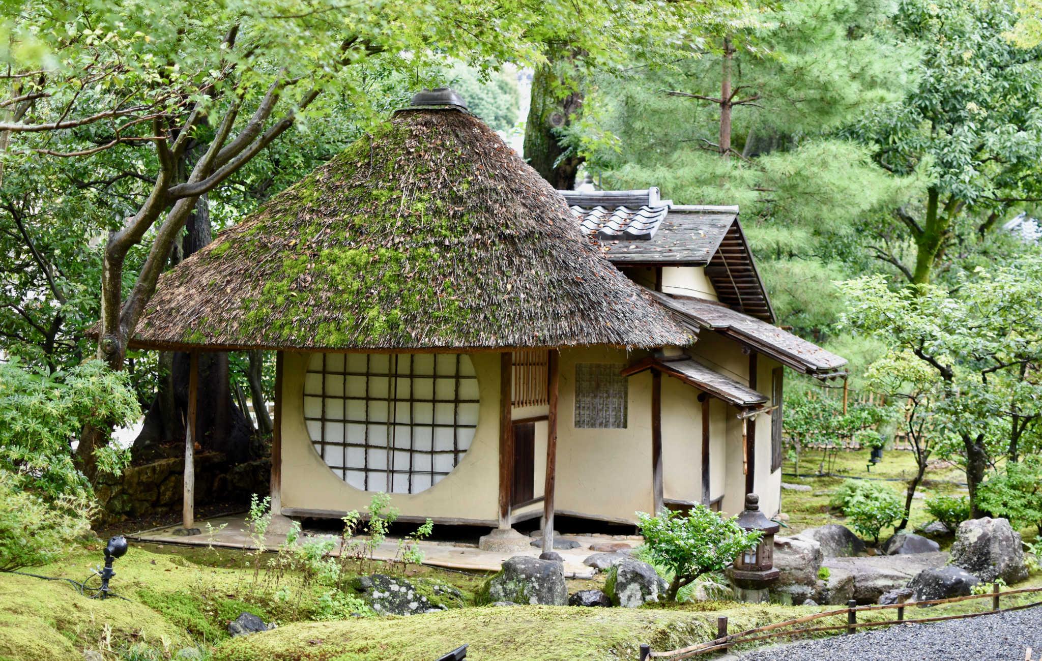 La première petite maison de thé que vous verrez au début de la visite