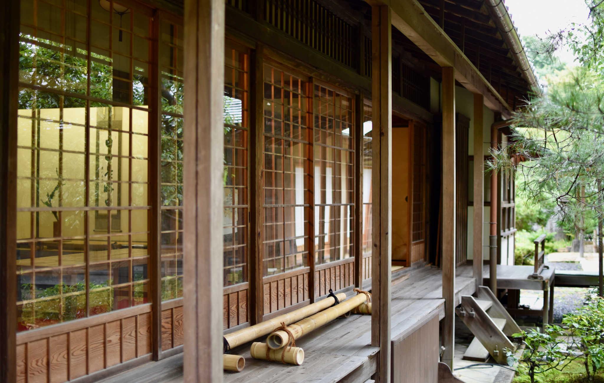 Une maison traditionnelle, avec ses panneaux coulissants