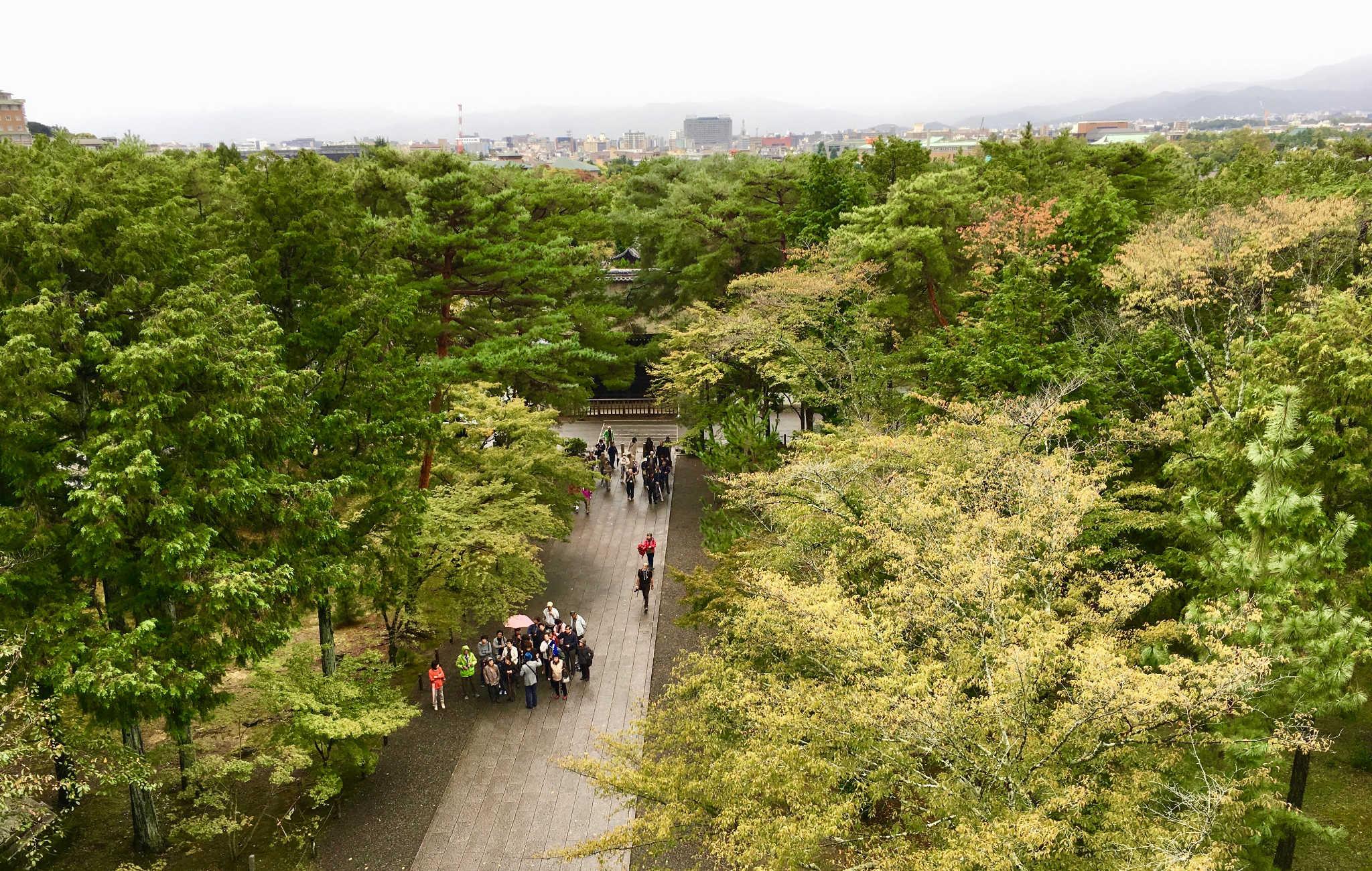 Du haut de la porte Sanmon, vue imprenable sur les alentours