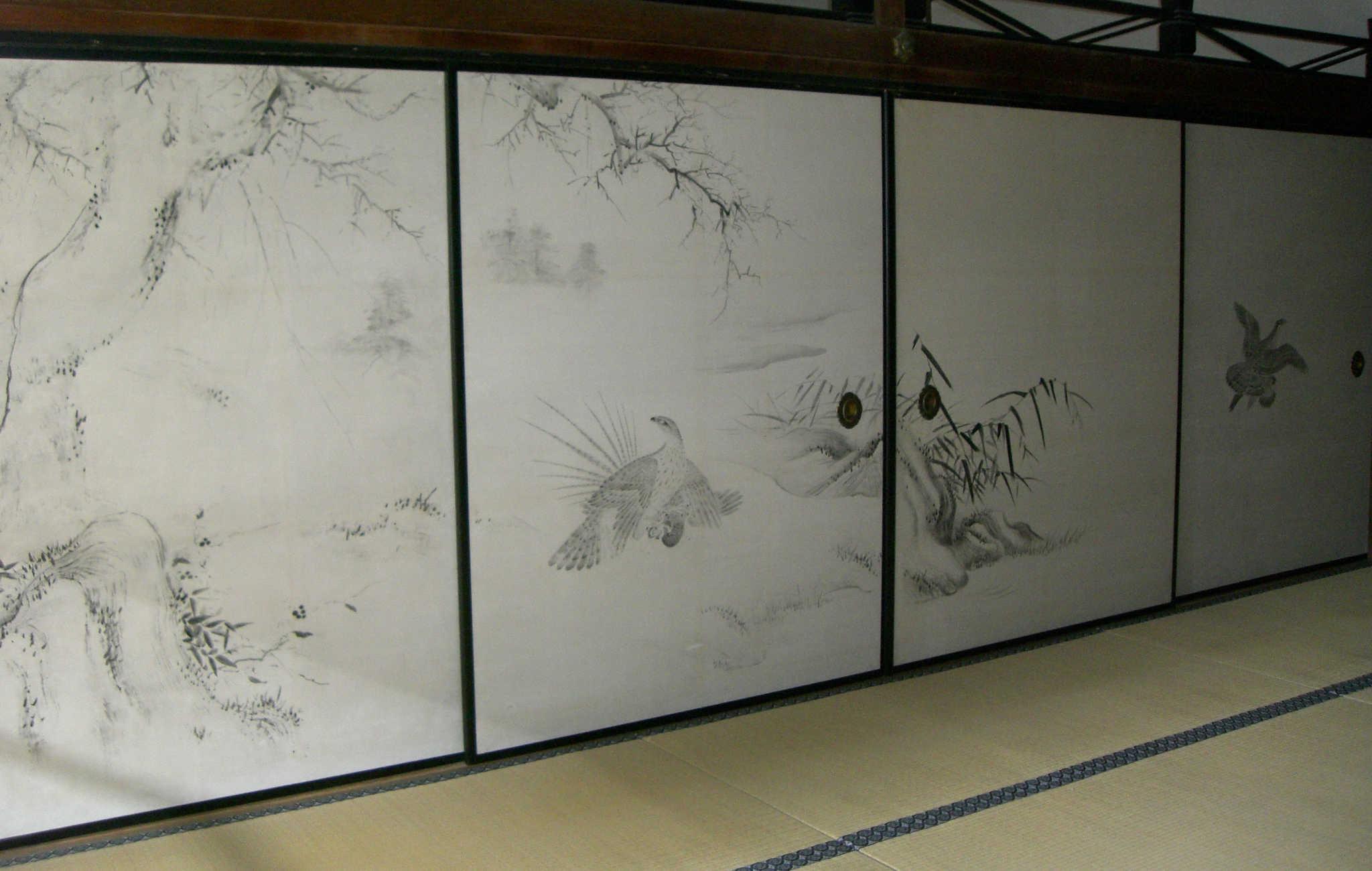 Panneaux Fusuma avec des peintures
