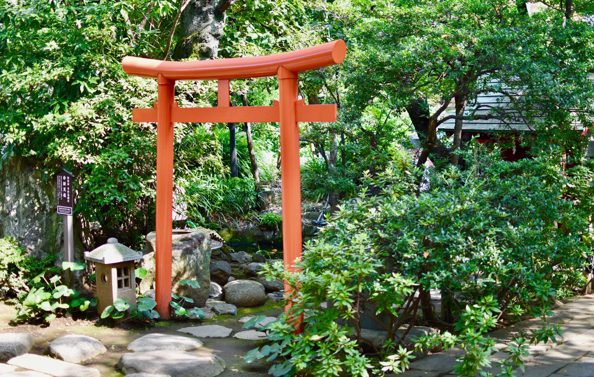 Des torii marquent l'entrée de petits endroits de prière