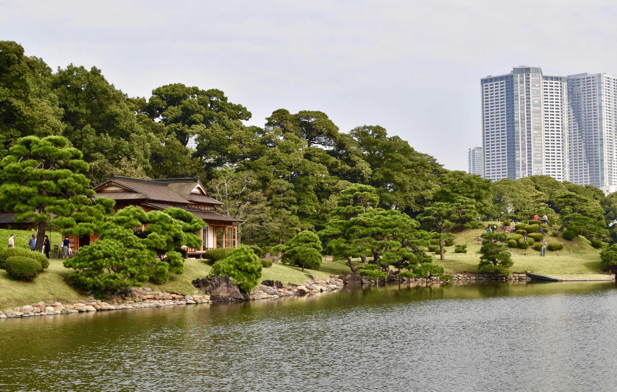 Hama Rikyu est un havre de verdure au milieu des gratte-ciels