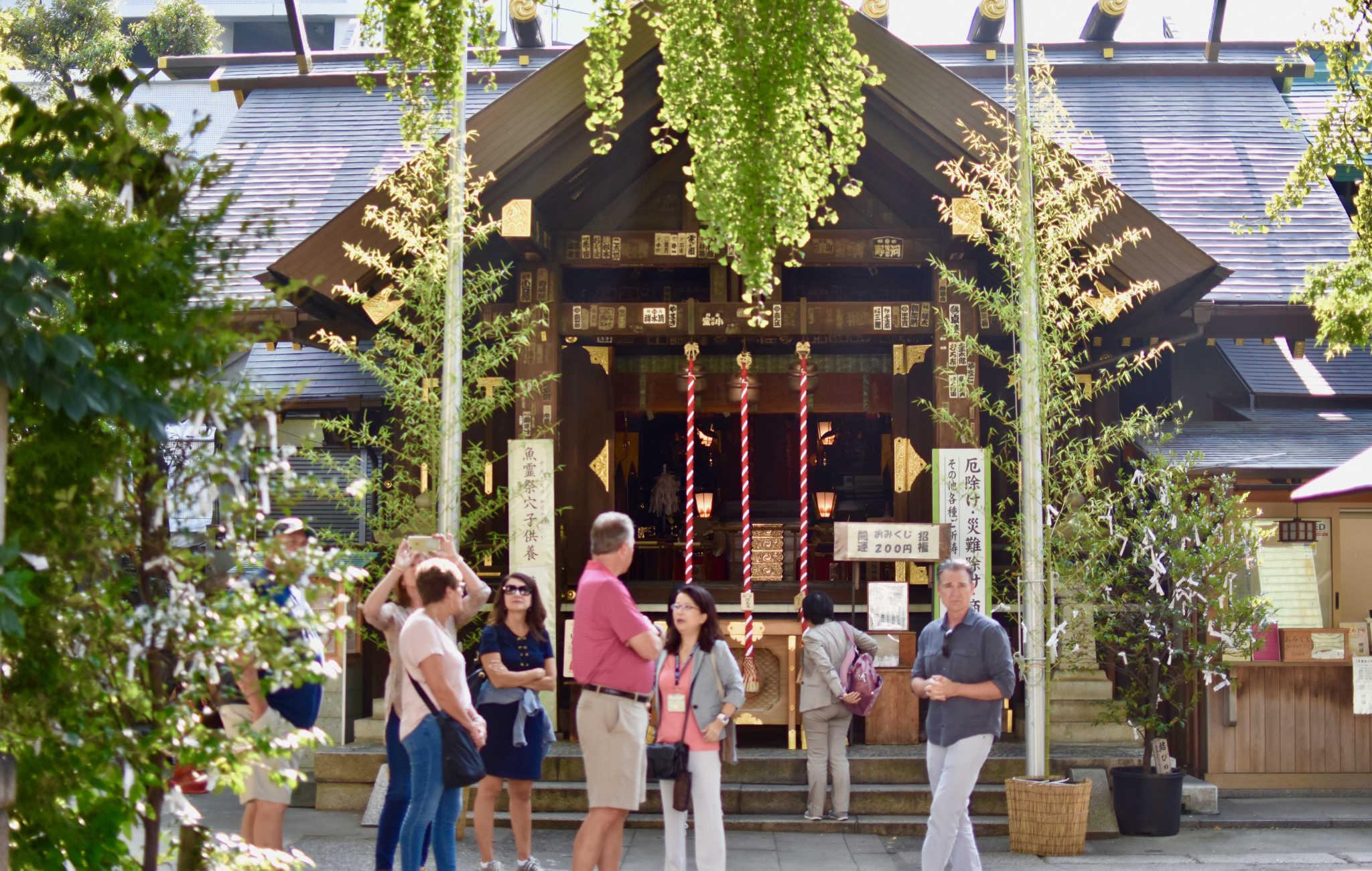 A côté du marché de Tsukiji, un sanctuaire