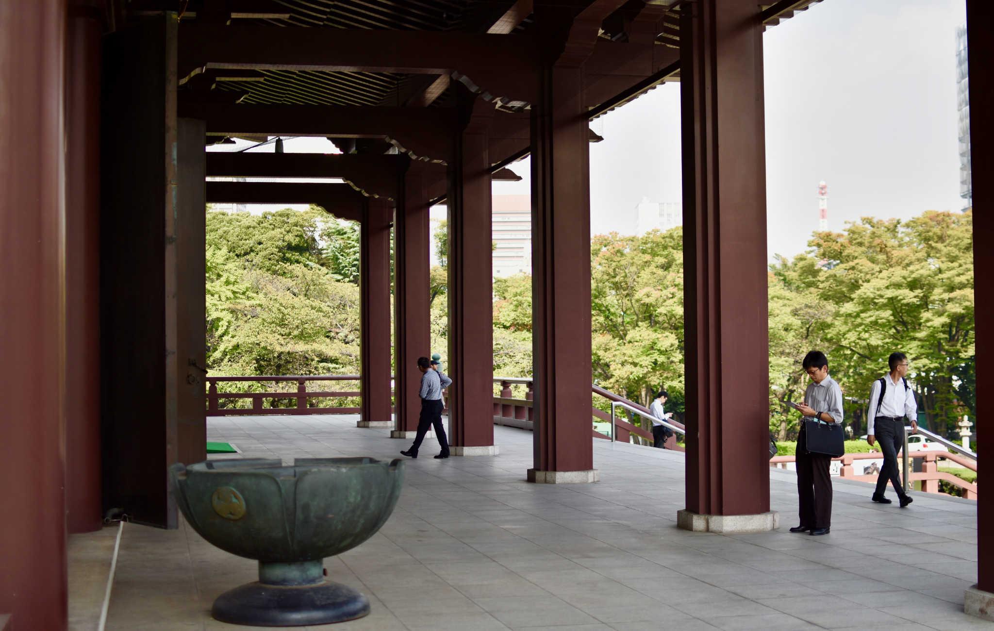Zozo-ji est un lieu où se déroulent de nombreuses cérémonies bouddhistes